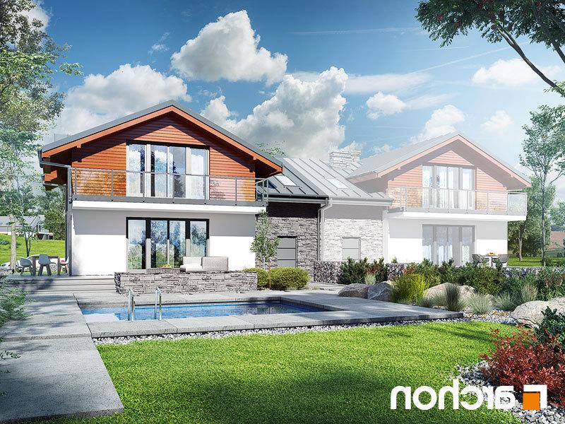 Lustrzane odbicie 2 projekt dom w budlejach ab  290lo
