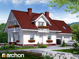 gotowy projekt Dom w rododendronach 6 (G2)