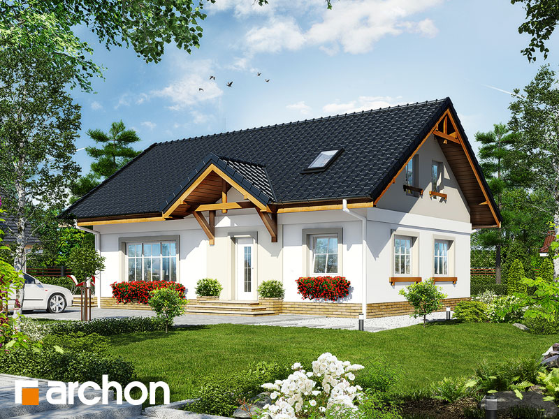 gotowy projekt Dom w arnice (PD) widok 1