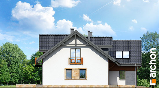 Elewacja boczna projekt dom w klematisach 5  266