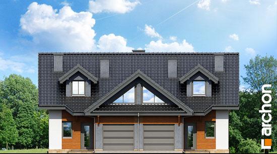 Elewacja frontowa projekt dom w klematisach 5  264