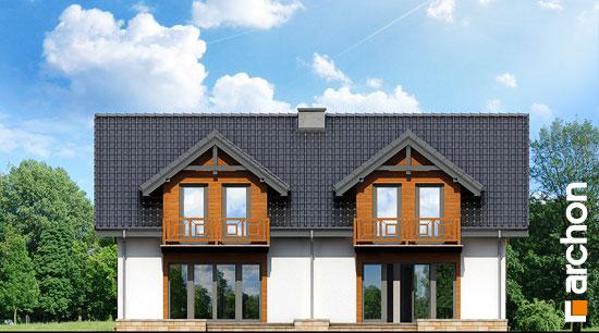 Elewacja ogrodowa projekt dom w klematisach 5  267