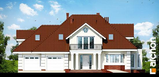 Elewacja frontowa projekt dom w wiciokrzewie g2  264