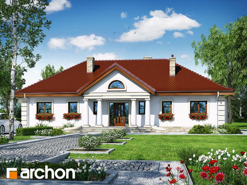 gotowy projekt Dom pod osiką widok 1