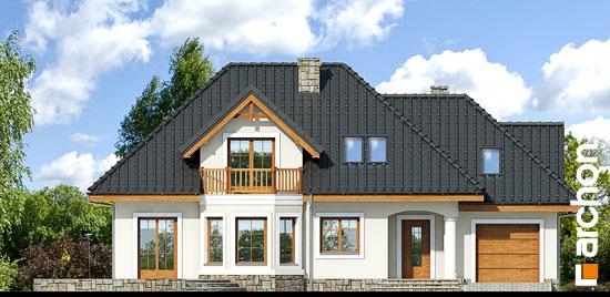 Elewacja frontowa projekt dom w awokado g  264