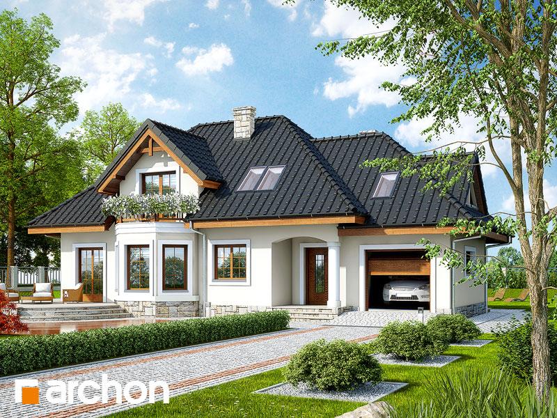 Projekt Domu Dom W Awokado G Dodatki Archon