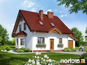 projekt Dom w poziomkach 3 (G) lustrzane odbicie 1