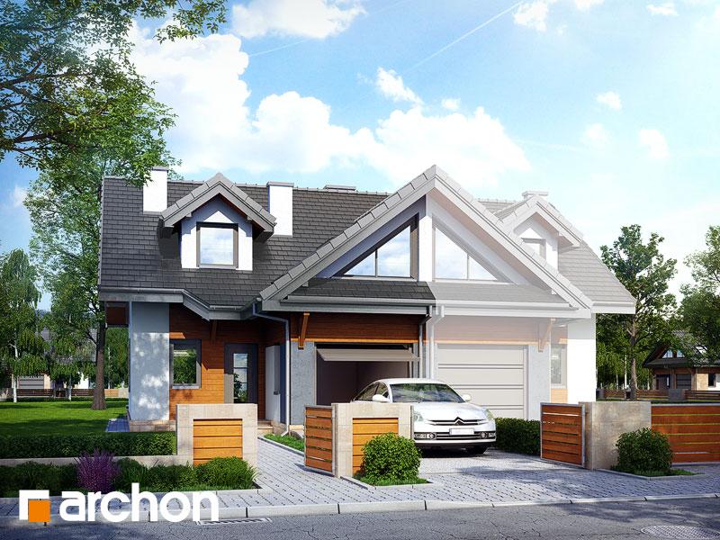 projekt Dom w klematisach 5 (B) widok 1