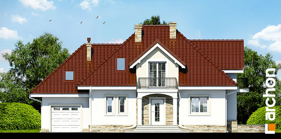 Elewacja frontowa projekt dom w werbenach 3  264