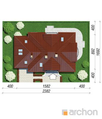 projekt Dom w werbenach 3 sytuacja