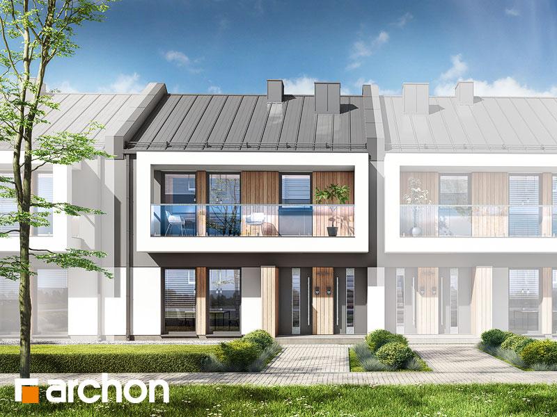 gotowy projekt Dom przy trakcie 3 (R2S) widok 1