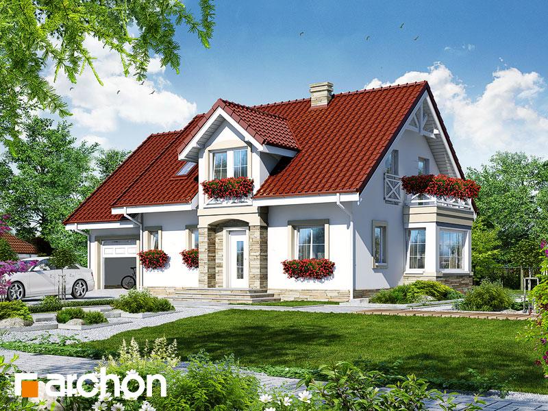 gotowy projekt Dom w sezamie widok 1