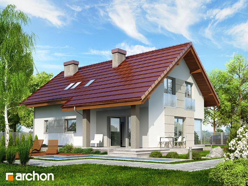 gotowy projekt Dom w wisteriach 2 (T) widok 2