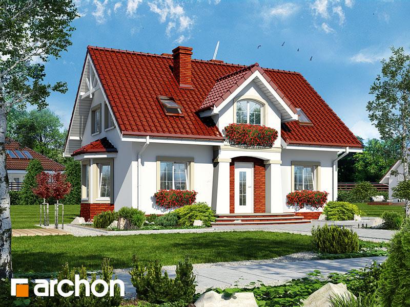 gotowy projekt Dom w kolendrze widok 1