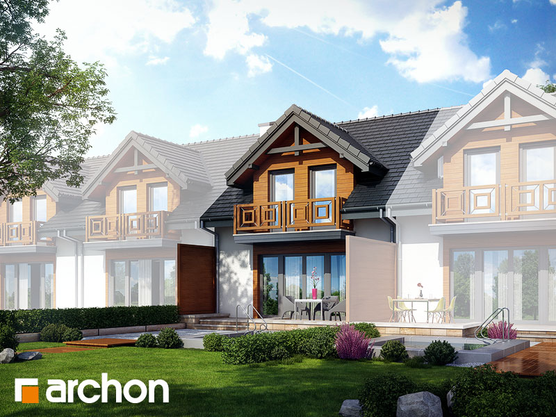 gotowy projekt Dom w klematisach 5 (S) widok 1