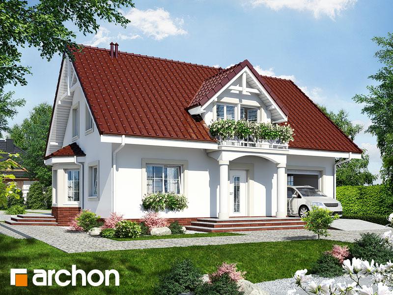 gotowy projekt Dom w aksamitkach 4 widok 1