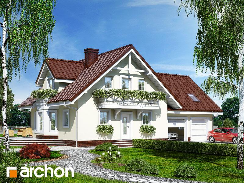 gotowy projekt Dom w rododendronach 5 (G2) widok 1