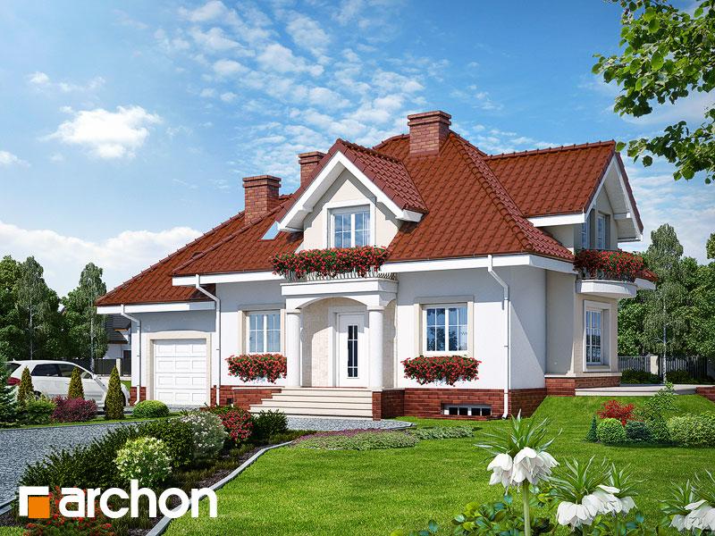 gotowy projekt Dom w werbenach (P) widok 1