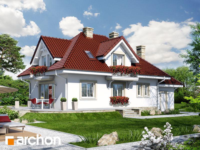 gotowy projekt Dom w werbenach 4 widok 1