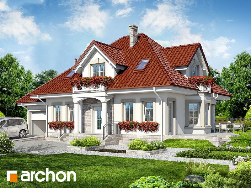 projekt Dom w lewkoniach (P) widok 1