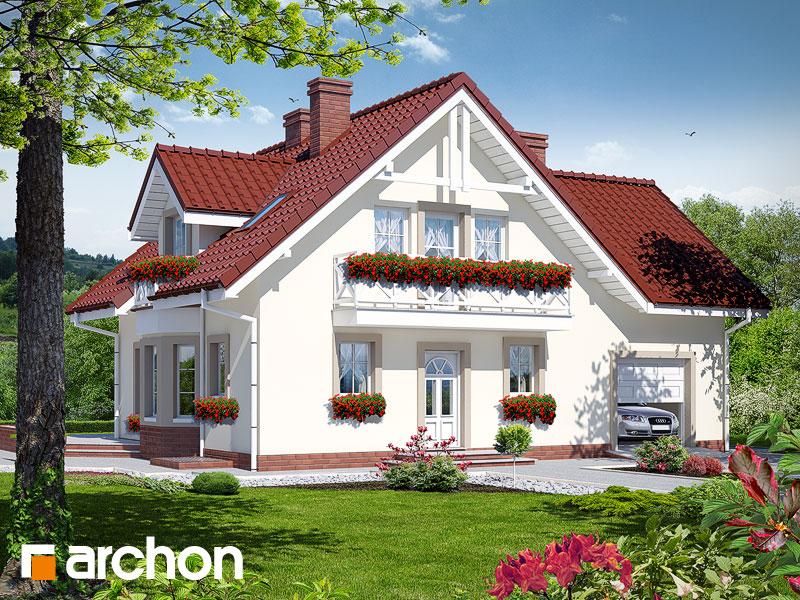 gotowy projekt Dom w rododendronach 2 (P) widok 1