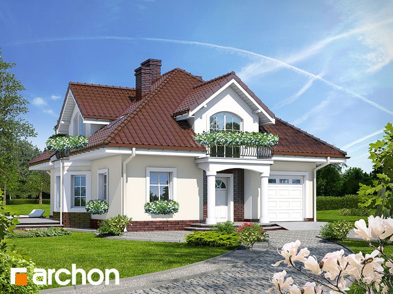 gotowy projekt Dom w tymianku (P) widok 1