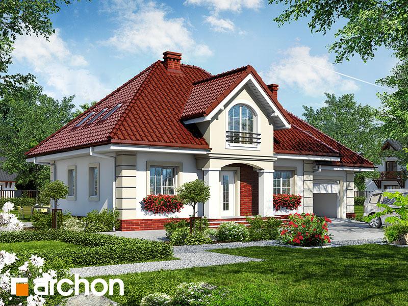 projekt Dom w robiniach 2 widok 1