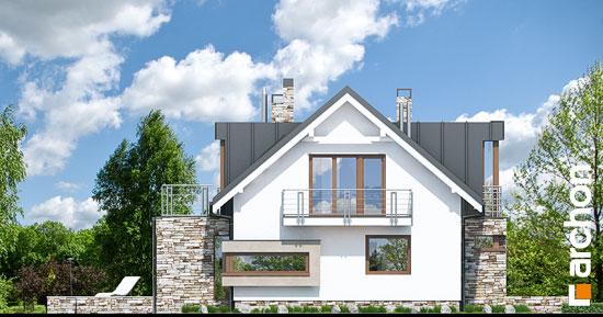 Elewacja boczna projekt dom pod ambrowcem  266