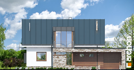 Elewacja frontowa projekt dom pod ambrowcem  264