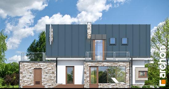 Elewacja ogrodowa projekt dom pod ambrowcem  267