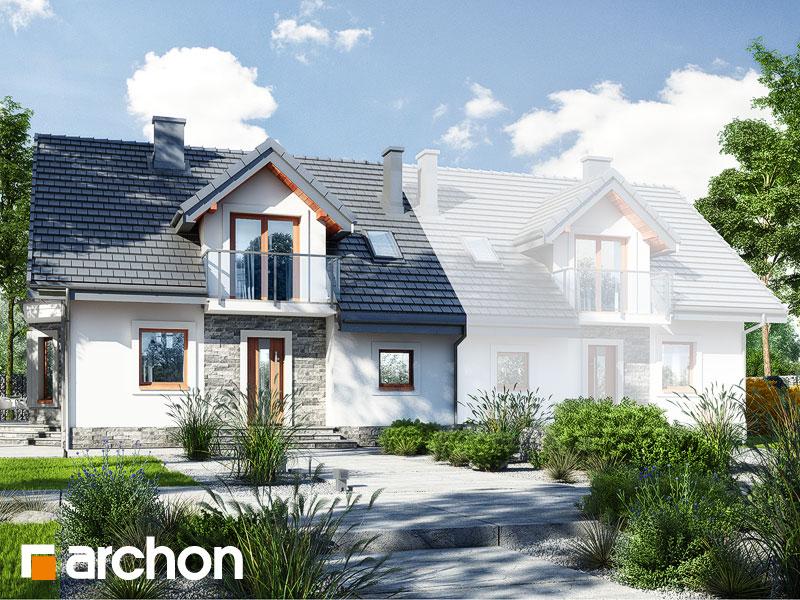 gotowy projekt Dom w rododendronach 10 (B) widok 1