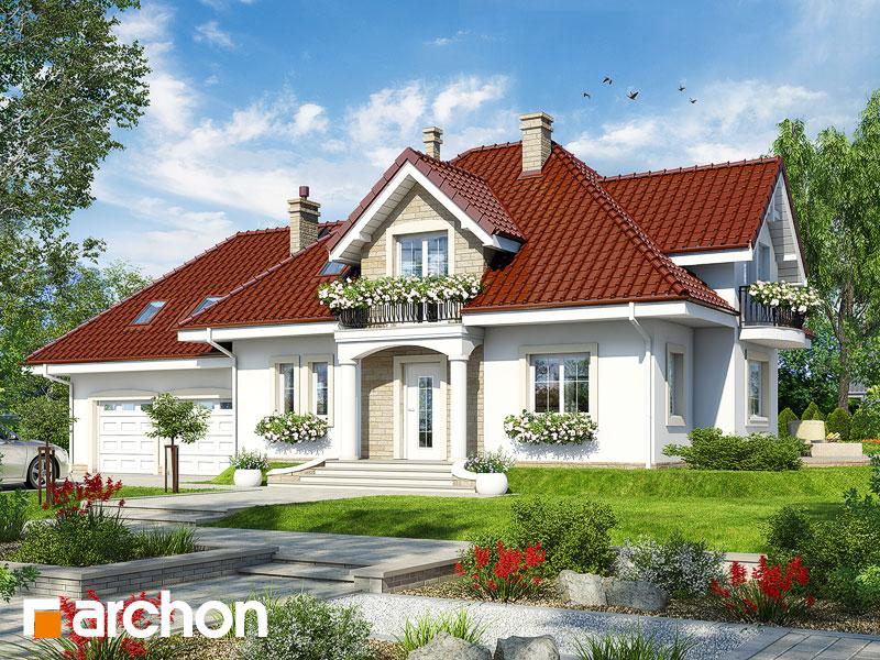 gotowy projekt Dom w werbenach 3 (G2) widok 1