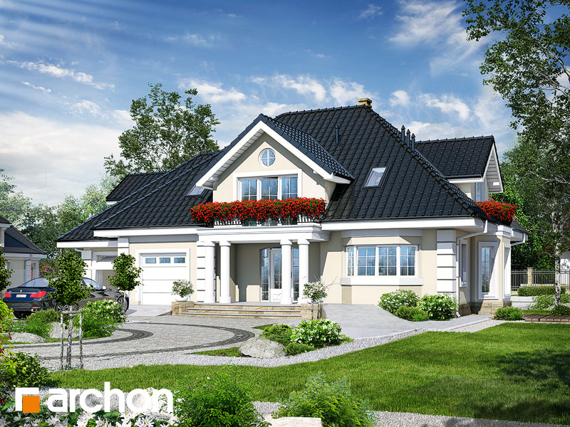 gotowy projekt Dom w wiciokrzewie 2 widok 1