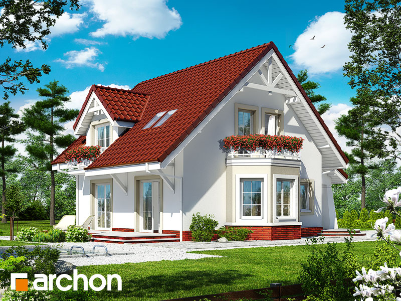gotowy projekt Dom w mandarynkach 2 widok 1