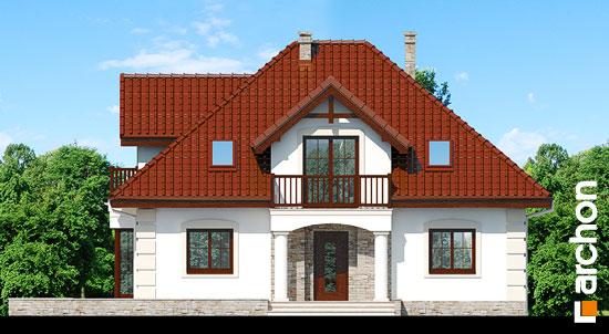 Elewacja frontowa projekt dom w jezowkach 3  264