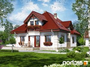 projekt Dom w jeżówkach 3 lustrzane odbicie 2