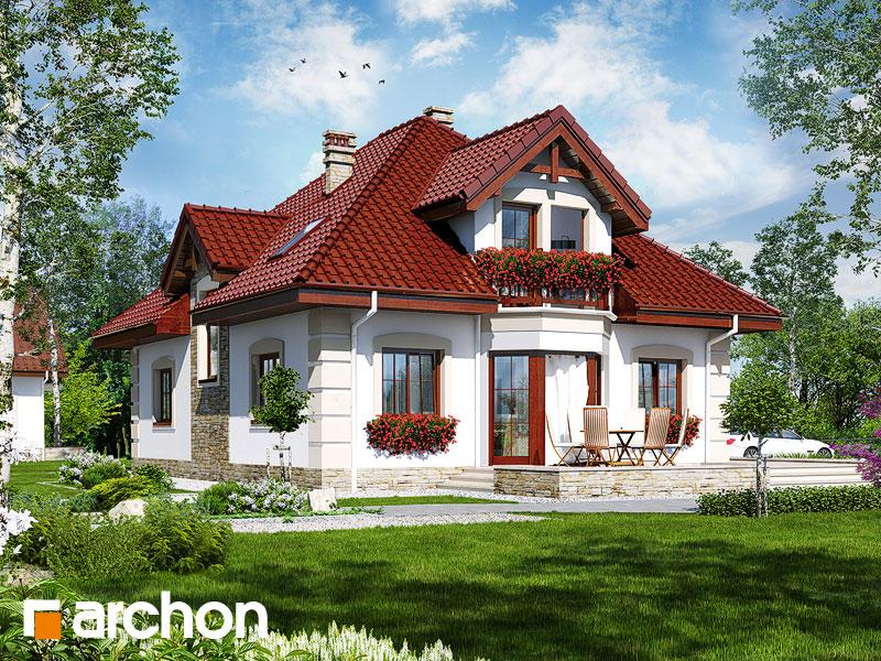 gotowy projekt Dom w jeżówkach 3 widok 1