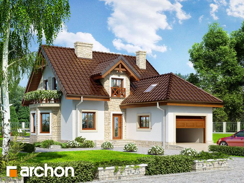 gotowy projekt Dom w rododendronach 12 (P) widok 1