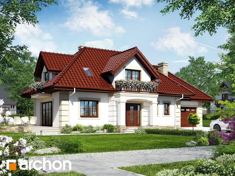 gotowy projekt Dom w ostrokrzewie widok 1
