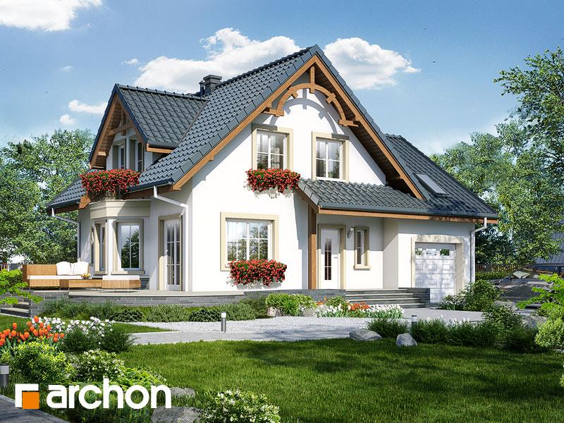gotowy projekt Dom w tamaryszkach 3 (P) widok 1