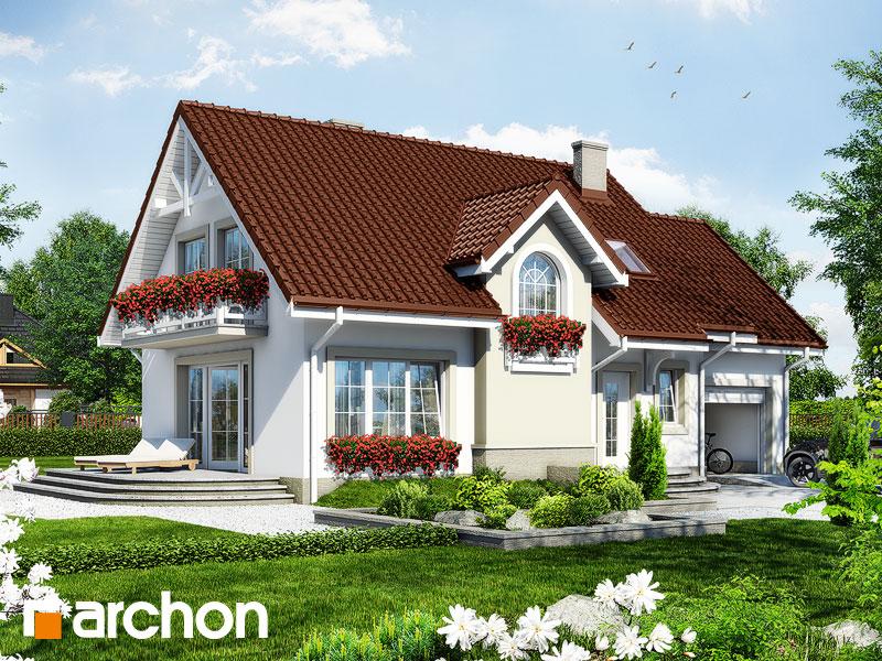 projekt Dom w lukrecji 3 widok 1