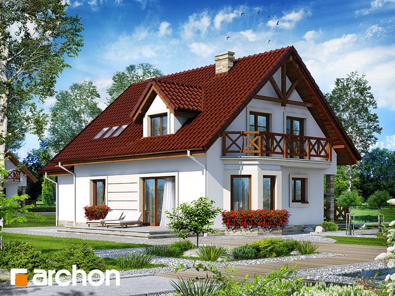 gotowy projekt Dom w dziewannie (G) widok 1