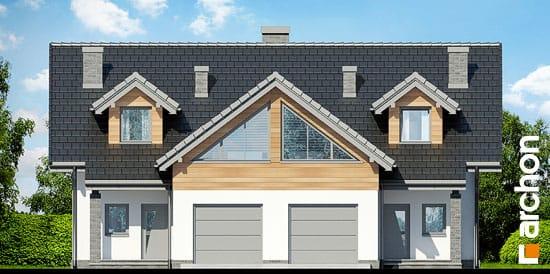 Elewacja frontowa projekt dom w klematisach 11  264
