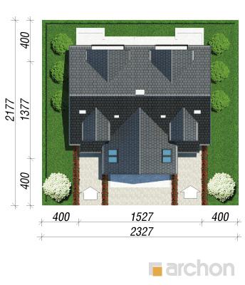 projekt Dom w klematisach 11 sytuacja
