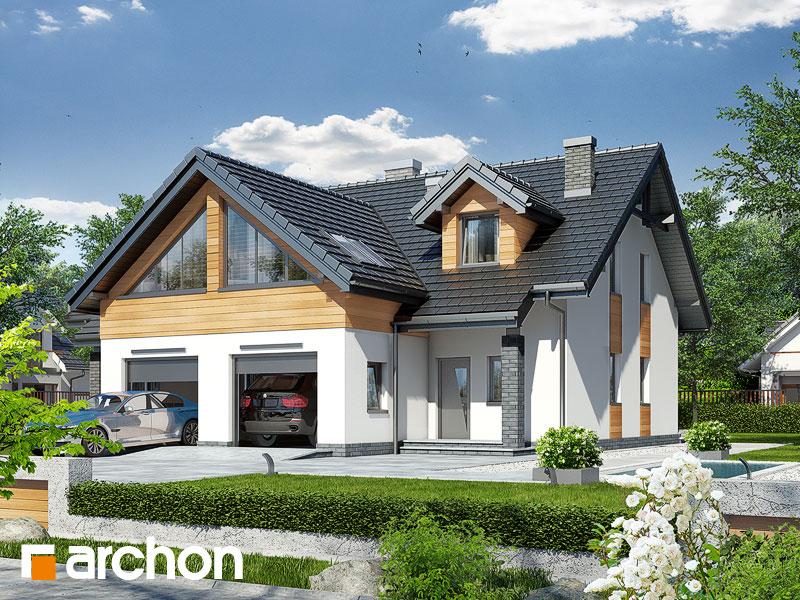 gotowy projekt Dom w klematisach 11 widok 1