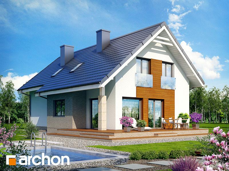 gotowy projekt Dom w bugenwillach (P) widok 1