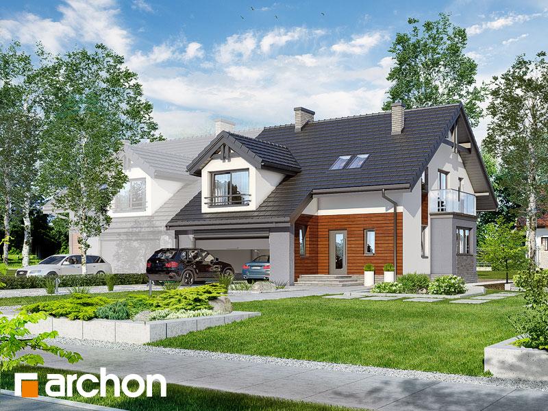 projekt Dom w klematisach (G2) widok 1