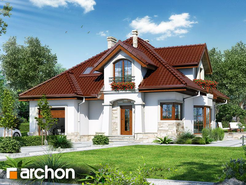 gotowy projekt Dom w turówkach widok 1
