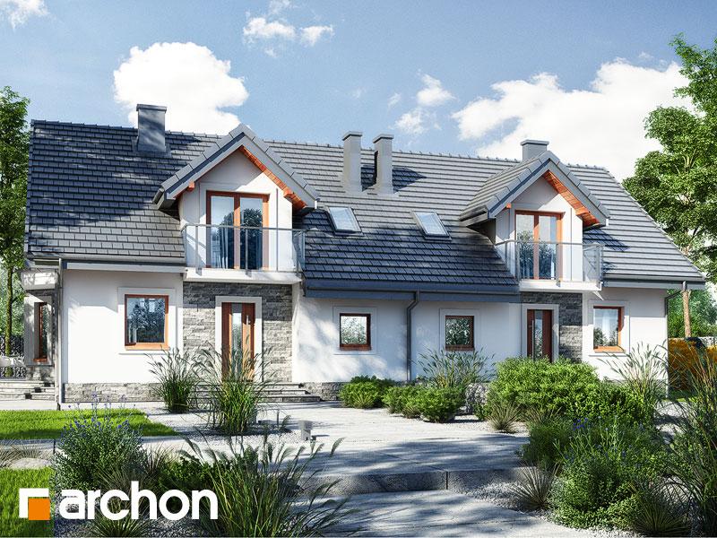 gotowy projekt Dom w rododendronach 10 widok 2