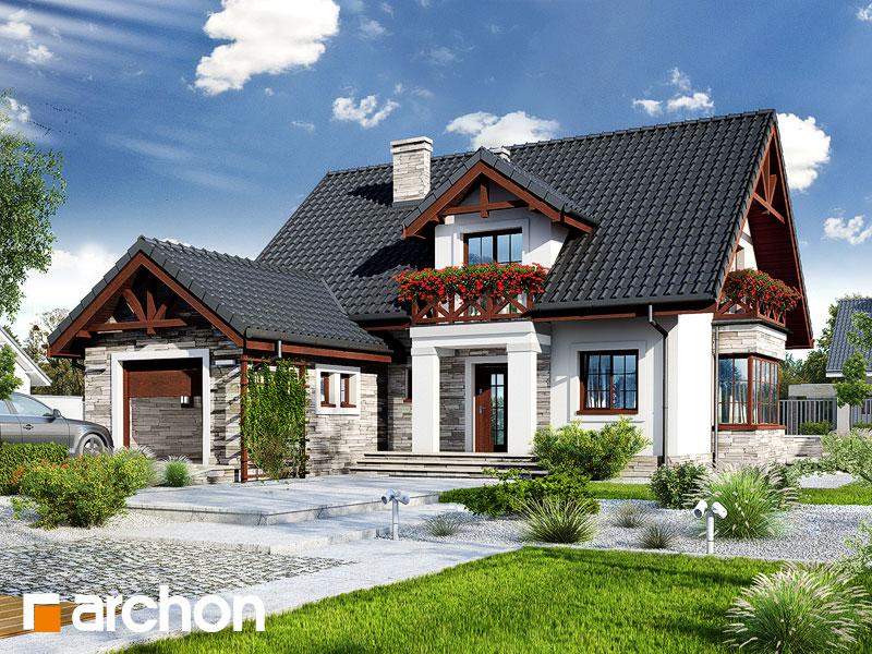 099a01cf7d43fc zobacz lustrzane odbicie gotowy projekt Dom w tocjach widok 1